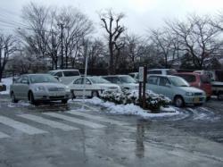 駐車場も大にぎわい